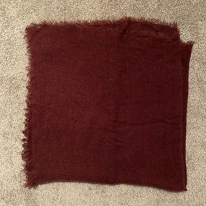 Soft Maroon H&M Blanket Scarf